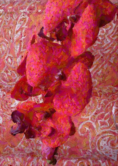Barbie Corbett-Newmin - Orchid on Fabric