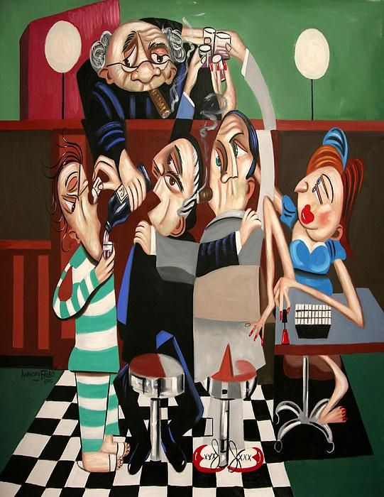 Order In The Court Side Bar Print by Anthony Falbo
