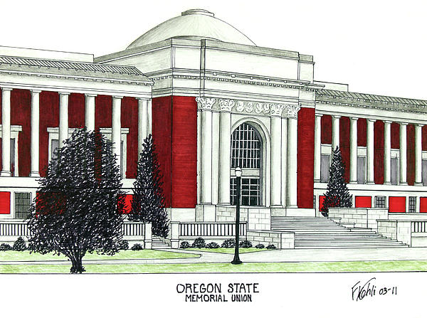 Oregon State Print by Frederic Kohli