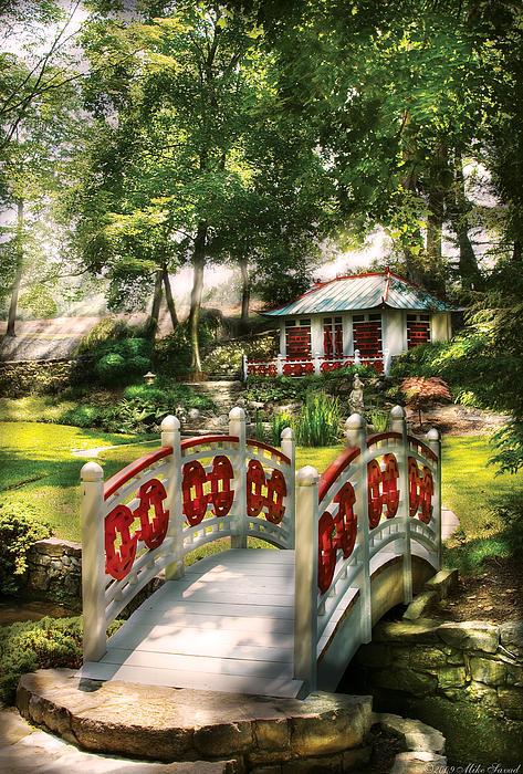 Orient - Bridge - The Bridge To The Temple  Print by Mike Savad