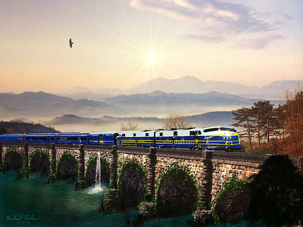 Orient Express Print by Michael Rucker