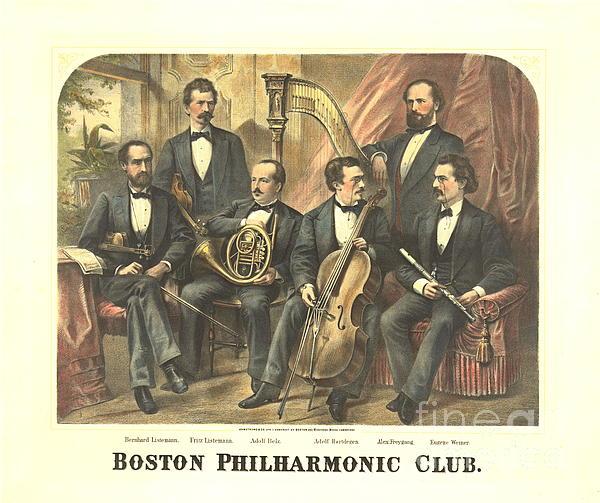 Original Boston Philharmonic Club 1875 Print by Padre Art