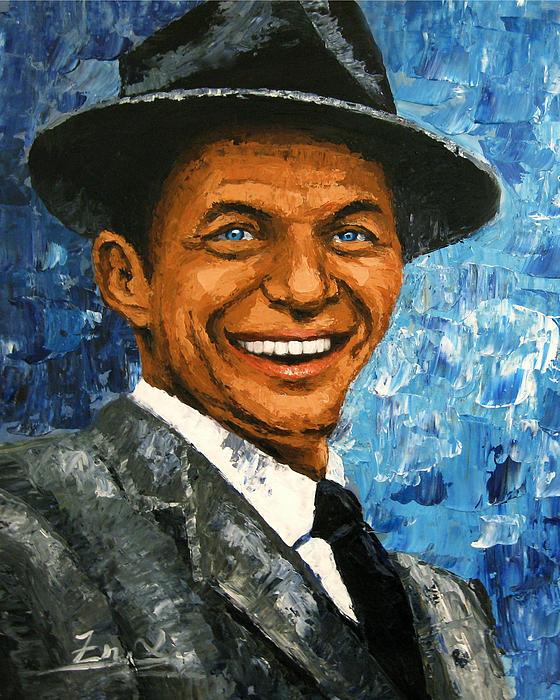 original contemporary painting Frank Sinatra Print by Enxu Zhou