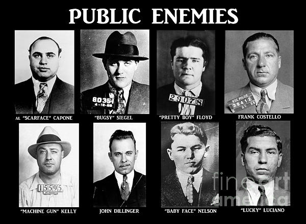 Original Gangsters - Public Enemies Print by Paul Ward
