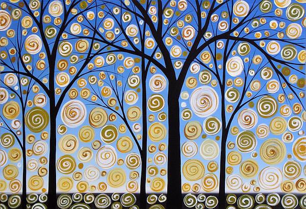 Original Landscape Tree Art Painting .. Sky Magic Print by Amy Giacomelli