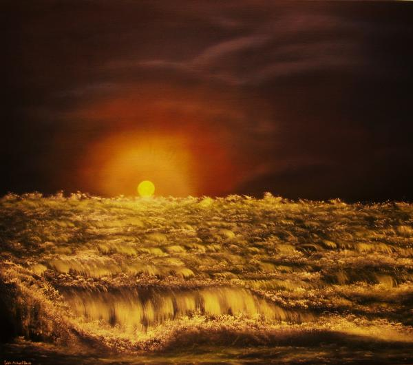 Original Sold-norwegian Winter Sunset - Private Collection-buy Giclee Nr 26 Print by Eddie Michael Beck