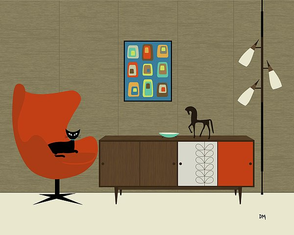 Orla Kiely Cabinet Print by Donna Mibus