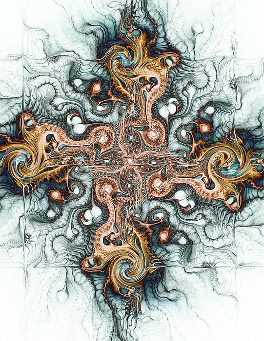 Ornate Cross Print by Anastasiya Malakhova