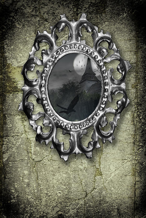 Ornate Metal Mirror Reflecting Church Print by Amanda And Christopher Elwell