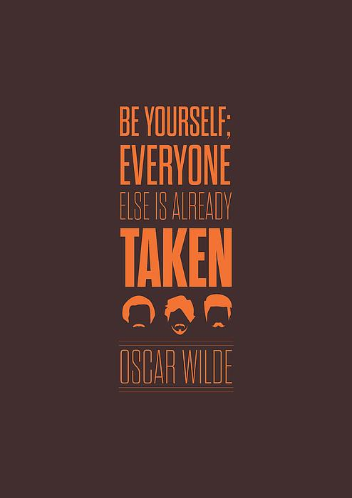 Oscar Wilde Quote Typographic Art Print Print by Lab No 4 - The Quotography Department