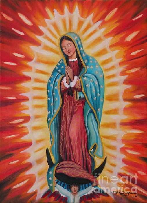 Our Lady Of Guadalupe Print by Lora Duguay