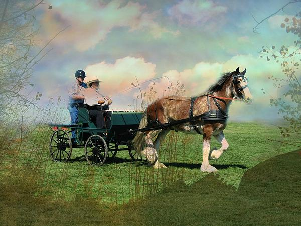 Out For A Trot Print by Shirley Sirois