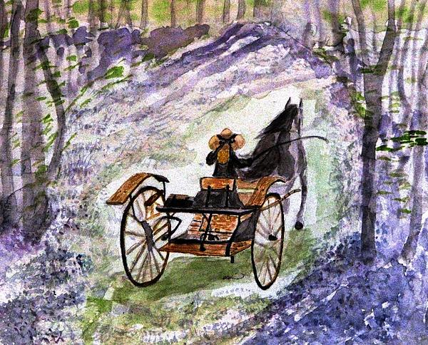 Out in the meadowbrook cart by angela davies for The meadowbrook