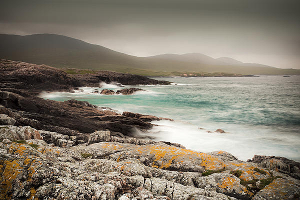 Outer Hebrides Waves Print by Ray Devlin
