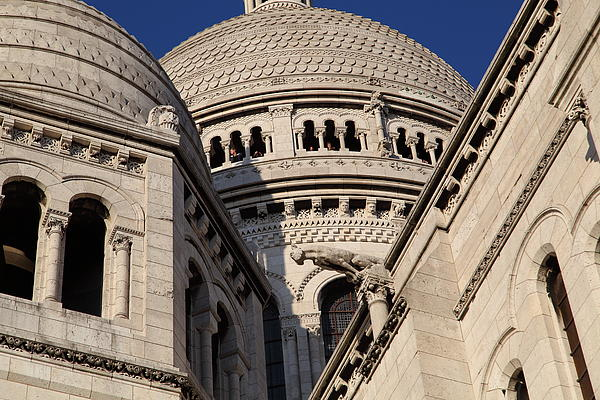 Outside The Basilica Of The Sacred Heart Of Paris - Sacre Coeur - Paris France - 011310 Print by DC Photographer