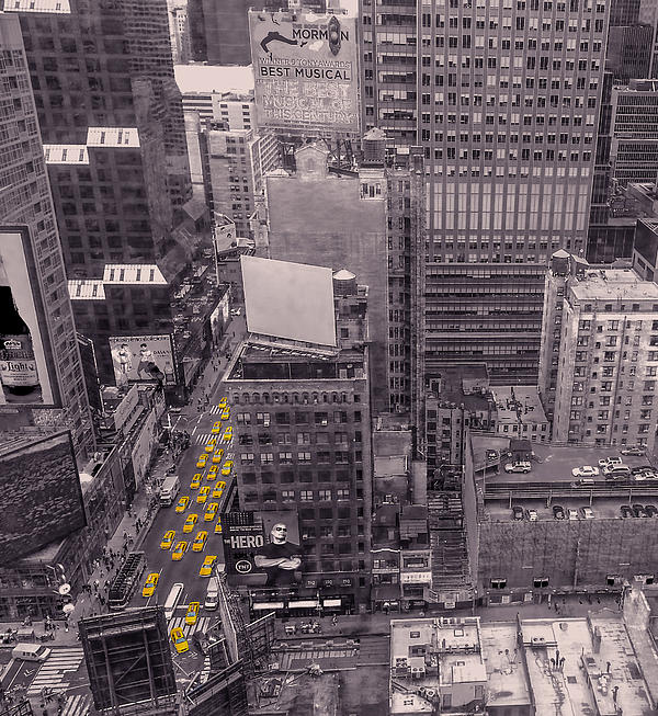 New York Taxi Street City Canvas Wall Art Picture Print Va: Overwhelm Me New York By Charlie Cliques