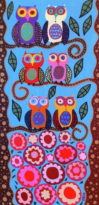 Kerri Ambrosino GALLERY - Owls in the Roses