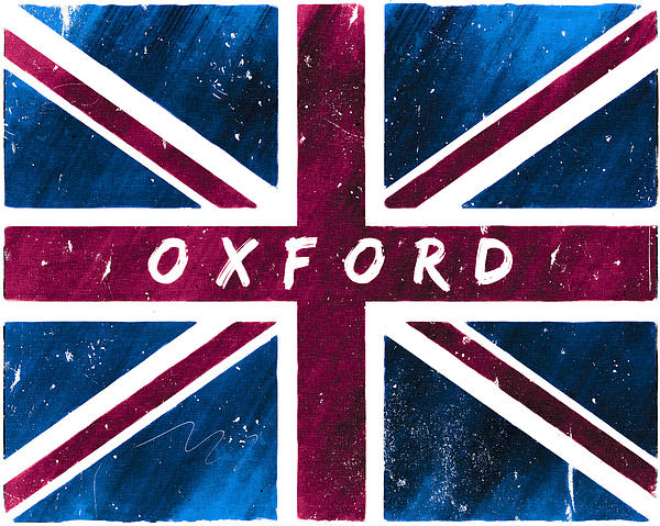 Oxford Distressed Union Jack Flag Print by Mark Tisdale