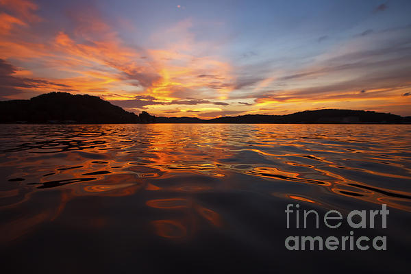 Ozark Sunset Print by Dennis Hedberg