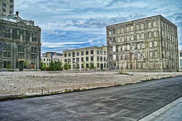 Pabst Brewery Abandonded Seen Better Days Pabst In Milwaukee Blue Ribbon Beer Print by Lawrence Christopher