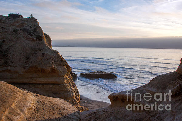 Pacific Ocean View From Above Cliffs Print by Darleen Stry