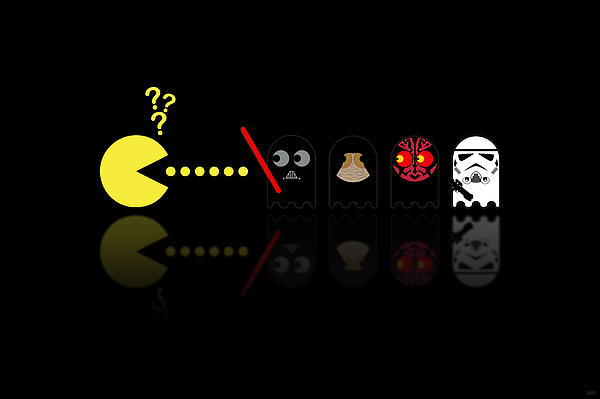 Pacman Star Wars - 2 Print by NicoWriter