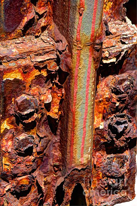 Paint And Rust 26 Print by Jim Wright