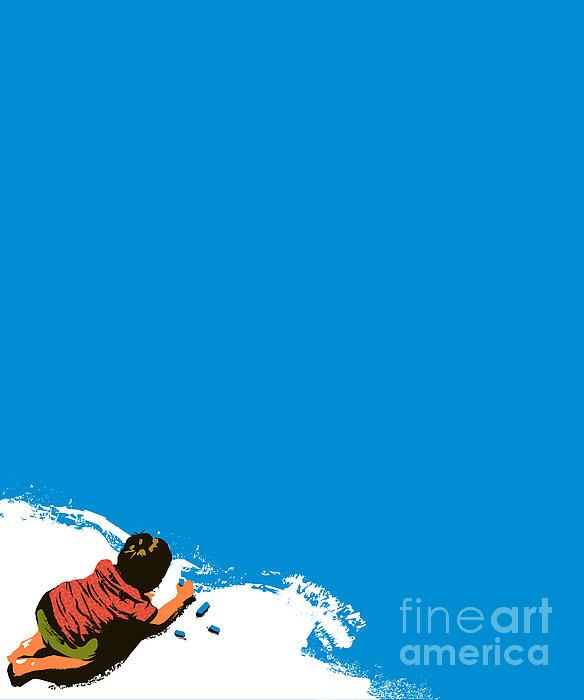 Paint It Blue Print by Budi Satria Kwan