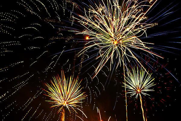 Paint The Sky With Fireworks  Print by Saija  Lehtonen