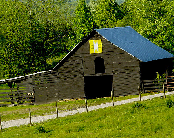 Painted Barn Quilt Two Print by Robert J Andler