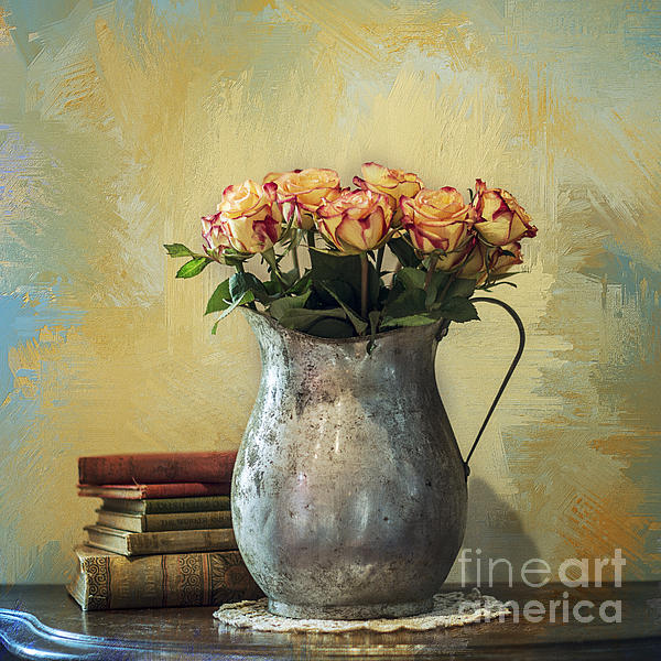 Painted Roses Print by Terry Rowe