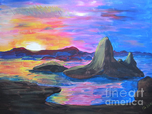 Painting     Grand Finale Print by Judy Via-Wolff