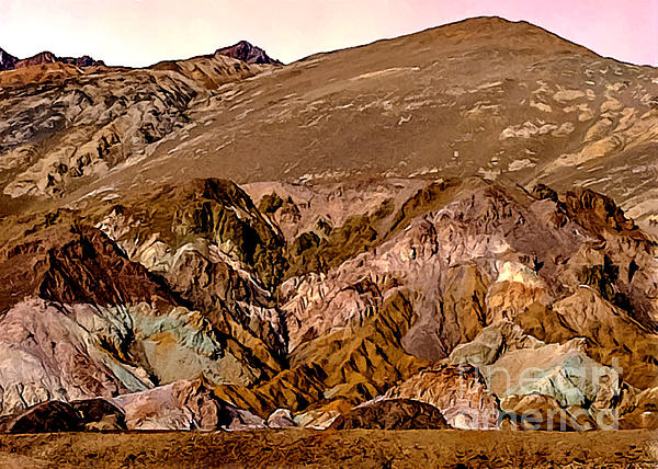 Painting Of Artists Pallete Death Valley Print by Bob and Nadine Johnston