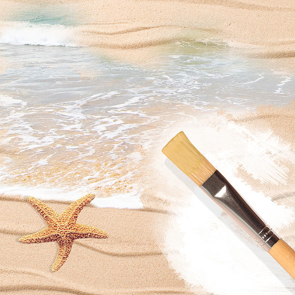 Painting The Beach Print by Amanda And Christopher Elwell