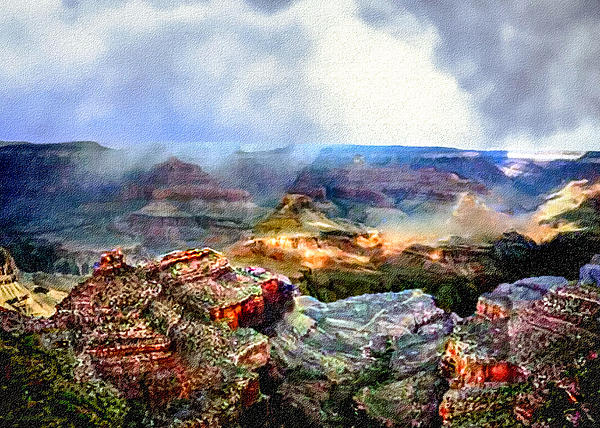 Nadine and Bob Johnston - Painting The Grand Canyon