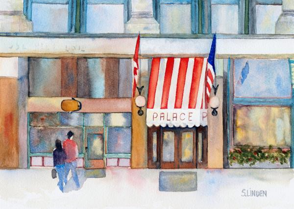 Palace Hotel Print by Sandy Linden