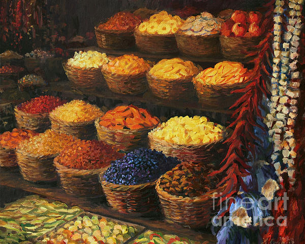 Palette Of The Orient Print by Kiril Stanchev