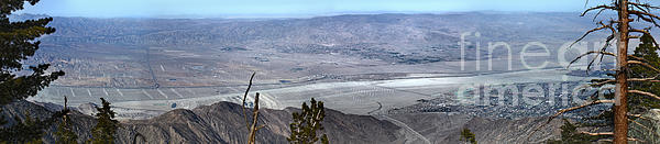 Palm Springs Panoramic View - 02 Print by Gregory Dyer