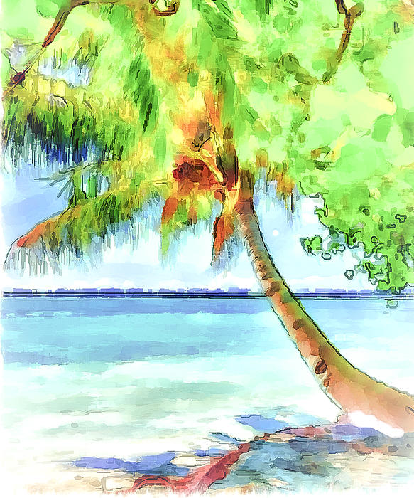 Palm Tree Print by Yury Malkov