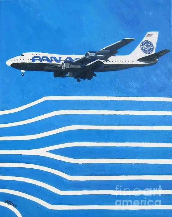 Pan Am Clipper Print by Lesley Giles