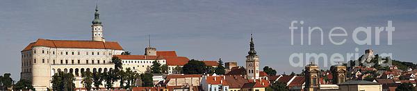 panorama - Mikulov castle Print by Michal Boubin