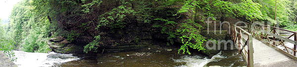 Panorama Of Wolf Creek At Letchworth State Park Print by Rose Santuci-Sofranko