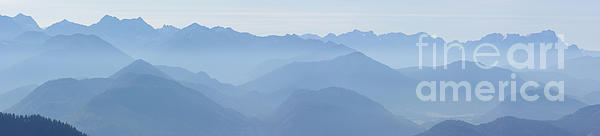 Panorama View Of The Bavarian Alps Print by Rudi Prott