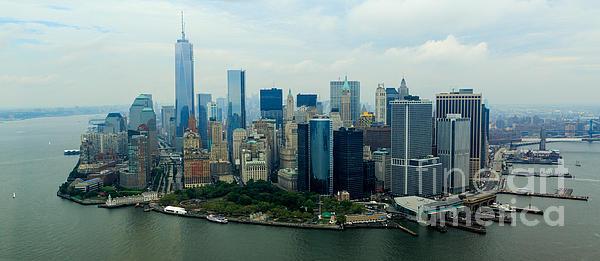 Panoramic Manhattan Print by Stephen Allen