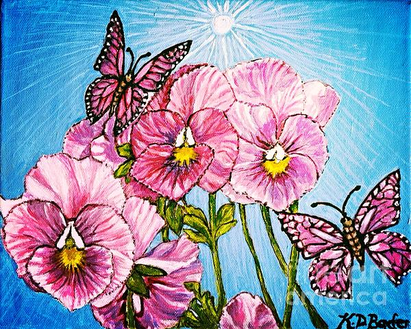 Kimberlee  Baxter - Pansy Pinwheels and the Magical Butterflies with Blue Skies