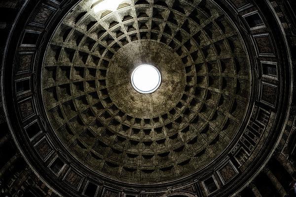 Pantheon Oculus Print by Joan Carroll