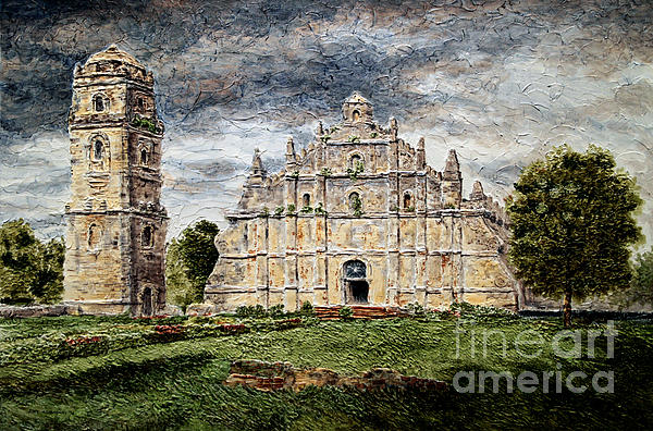 Paoay Church Print by Joey Agbayani