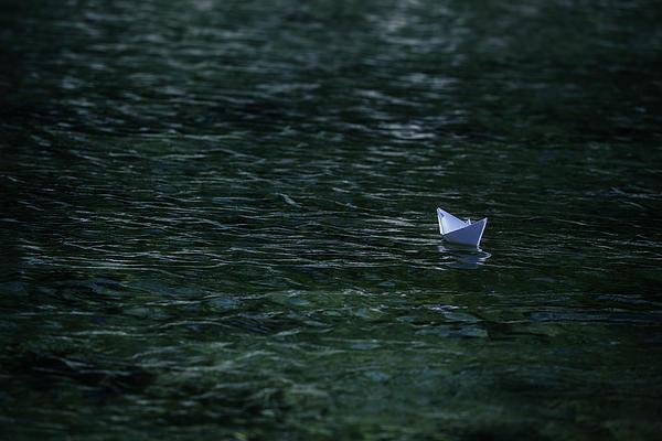 Paper Boat Print by Joana Kruse