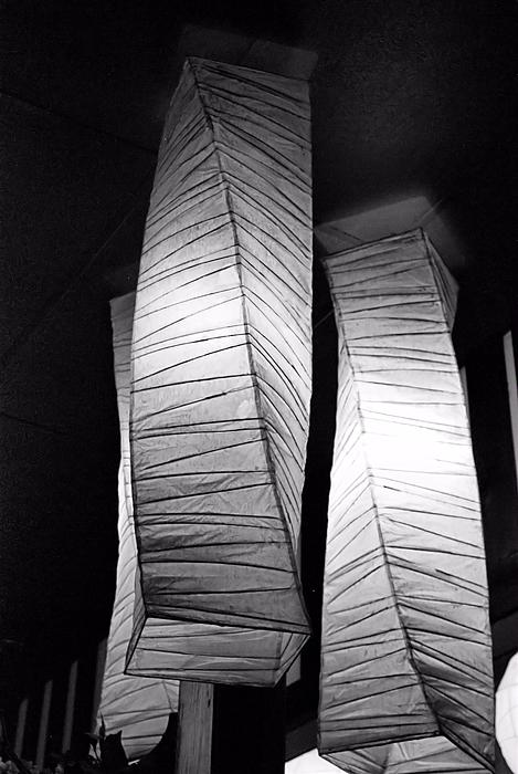 Paper Lampshades Print by Bob Wall