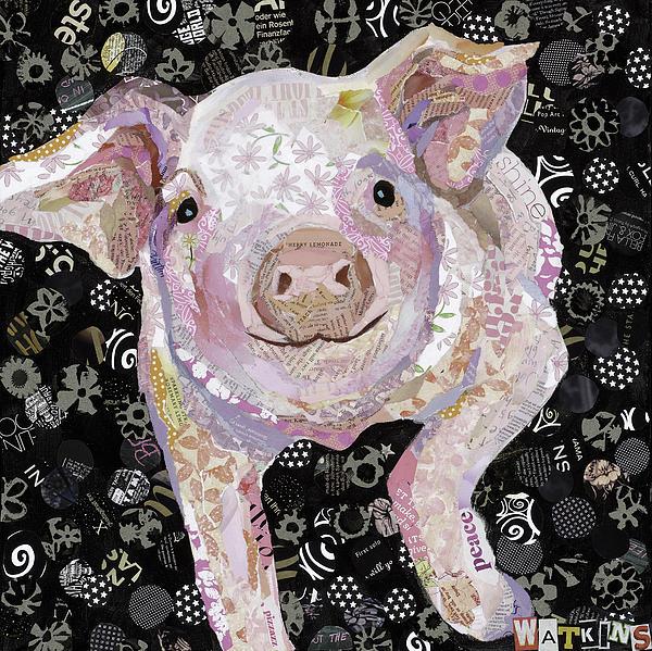 Paper Pig Print by Beth Watkins